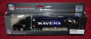 BALTIMORE RAVENS NFL FOOTBALL 180 REPLICA DIE CAST TRACTOR TRAILER
