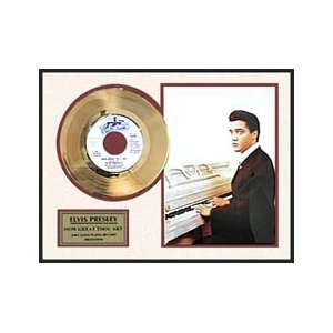 Elvis How Great Thou Art framed gold record Everything