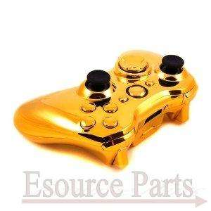 GOLD Chrome Shell For Xbox 360 Wireless Controller