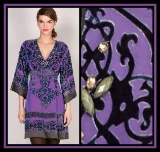 Hale Bob Silk Velvet Dress XS 0 2 4 UK 4 6 8 NWT New Renaissance