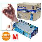 Disposable Powder Free Vinyl Medical Exam (Latex Free) Gloves Medium