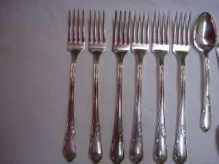 Meadowbrook Heather Silverplate 32 piece Flatware Set 1936 Oneida Wm A