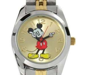 Disney Mickey Mouse Womens Two Tone Watch MCK806