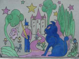 CHILDRENS FAIRY TALE ILLUSTRATION ART DECO ORIGINAL WC