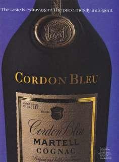 1984 CORDON BLEU MARTELL COGNAC Vintage Print Ad AD ART