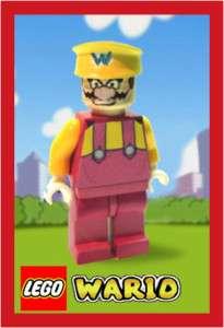 Custom Lego Wario Ware Super Mario Land Wii DS Minifig