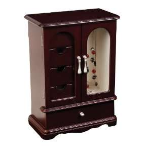 Mele & Co. Adele Upright Glass Door Jewelry Box in