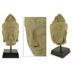 Sandstone sculpture, Buddha Meditates