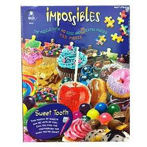 com BePuzzled 750pc Puzzles   Impossibles   Sweet Tooth Toys & Games