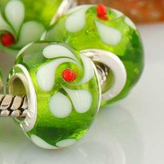 Murano Handmade Lampwork Glass European Beads Fit Bracelets