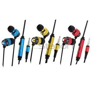 3x In Ear Stereo Headphone+Mic For iPod Touch 3rd 4th
