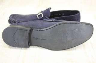 Salvatore Ferragamo Magnifico Blue Suede Loafer Moc 11