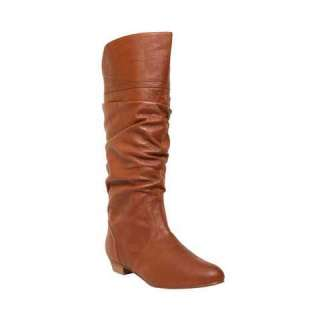 STEVE MADDEN CANDENCE COGNAC LEATHER WOMENS BOOTS 6 M
