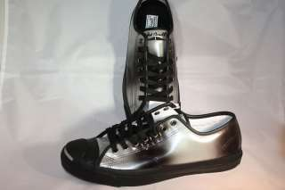 Converse Jack Purcell Black Gradient Patent Leather Lo