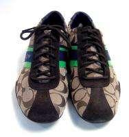 Coach Signature Khaki Jayme Tennis Sneakers 9.5 M NIB