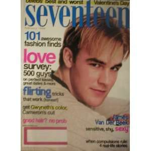 Seventeen Magazine February 1999 James Van Der Beek Seventeen Books
