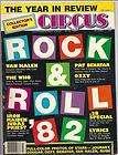 CIRCUS MAGAZINE Rock & Roll 82 Dec 82 VAN HALEN Iron Maiden BENATAR