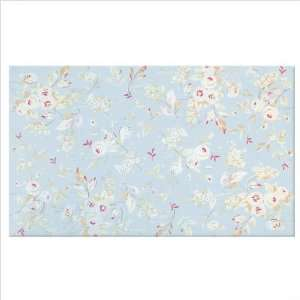 Lucy In Blue Floral Rug Size 5 x 8