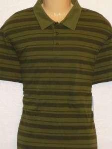 Life Is Good Golf Mens Green Stripe Polo Shirt NWT XL