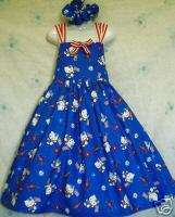 princess_trunk Licensed Patriotic July 4th Hello Kitty Sun Dress Set