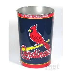 St, Louis Cardinals MLB Jumbo Metal Trash Waste Basket