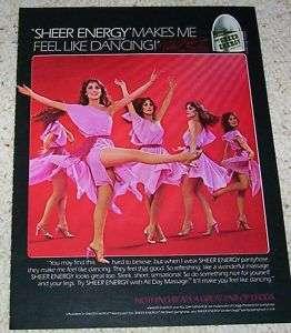 1981 Leggs pantyhose  ice skater PEGGY FLEMING 1 pg AD