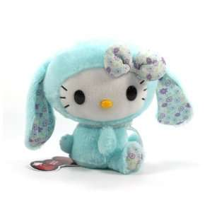 Eikoh Hello Kitty Lop Ear Bunny Plush   7 Blue Toys