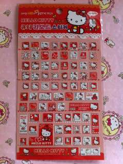 Sanrio Hello Kitty Computer Decoration Keyboard Stickers Red