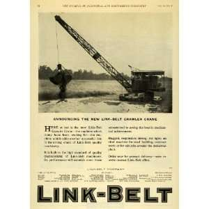 1922 Ad Link Belt Crawler Crane Machinery Construction