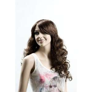 Female Mannequin Long Brown Wig with Curls Everything