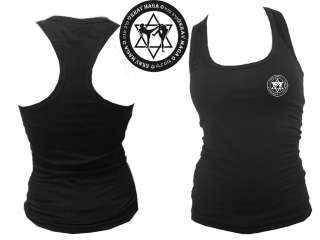 Krav maga sports cotton w lycra women body fit sleeveless top shirt