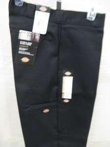 New Dickies Mens Double Knee Work Pant Black Loose Fit Style# 85283BK