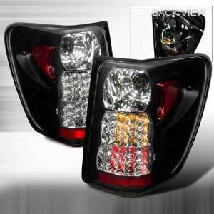 99 03 GRAND CHEROKEE LED BLACK TAIL LIGHTS Automotive