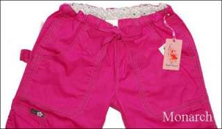 Koi Lindsey Scrub Cargo Pocket Pant Fushia   Small