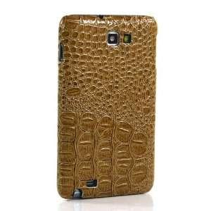 Brown Crocodile pattern Hard Case / Cover / Skin / Shell