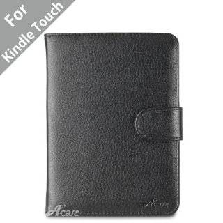 Kindle Touch Leather Case (Black) for 4th Generation 6 Kindle Touch
