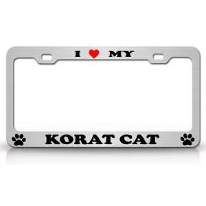 I LOVE MY KORAT Cat Pet Animal High Quality STEEL /METAL