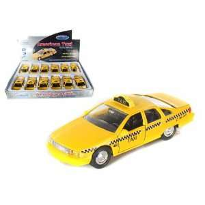Set of 12   Chevy Caprice American Taxi 1/38 Toys & Games