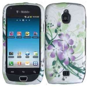 Purple Flower Green Wave Protector Hard Case for Samsung