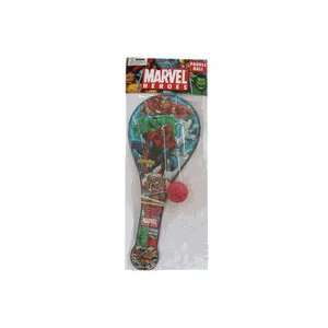 Marvel Heros Paddle Ball   Spiderman Hulk & Iron man Toys & Games