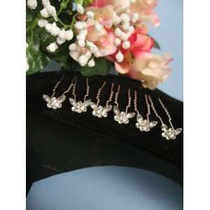 Bridal Butterfly Swarovski Rhinestone Hair Pin Hairpin