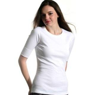 High Quality Womens Elbow Sleeve T shirt Tee Shirt   Red