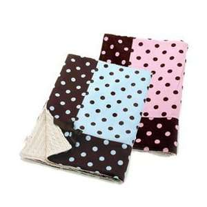 Bambini Polka Dot Blanket   color BLUE Baby