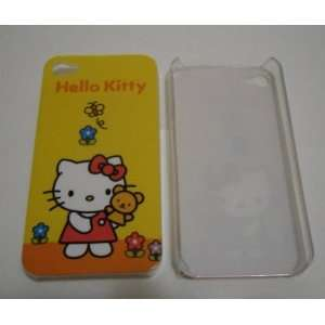 Hello Kitty Pattern Hard Case for iPhone 4G/4S w/ teddy