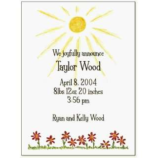 Red Daisies Baby Shower Invitation: Everything Else