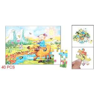 Como Kids 40 pcs Cowboy Pattern Jigsaw Puzzle Papers Toy Toys & Games