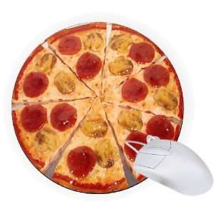 Rikki Knight Pepperoni Pizza 8 Round Mouse Pad Mousepad