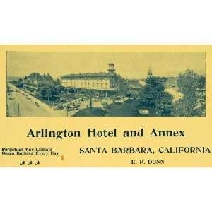 1899 Ad Arlington Hotel Annex Santa Barbara California