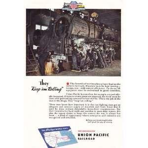 Pacific Railroad Keep em Rolling Union Pacific Railroad Books