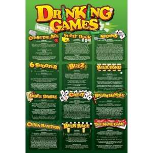 Drinking Games, College Poster Print, 24 by 36 Inch: Home